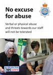 NYP16-0161 - Poster: No excuse for abuse